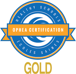 OPHEA Healthy Schools Certified gold