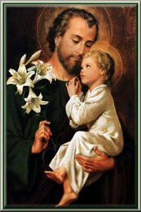 Joseph holding Jesus