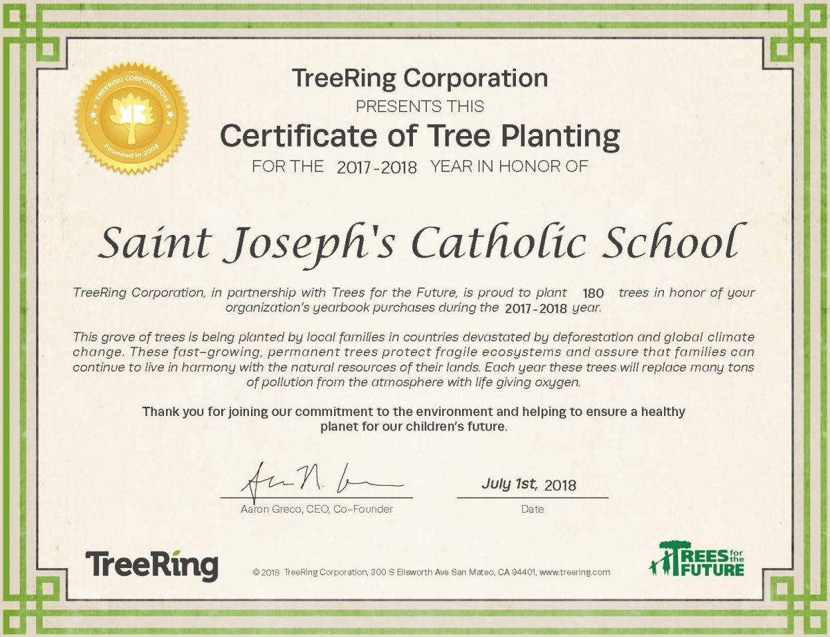 Yearbook Sales Result in 180 Trees Being Planted