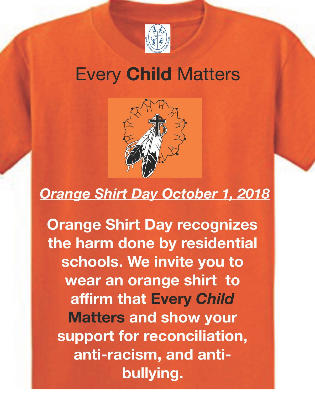September 30, 2019 is Orange Shirt Day!