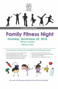 Family Fitness Night:  Nov 29 at 7:00 pm