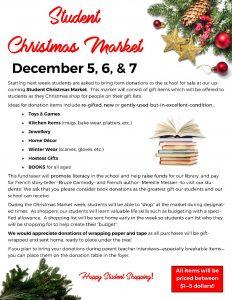Student Christmas Market Dec 5-7