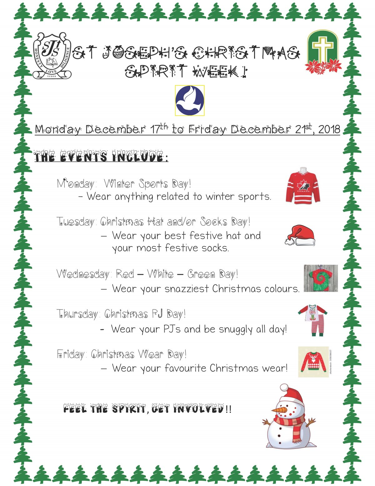Christmas Spirit Week!!