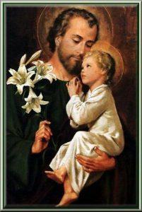 Mars 19 Bonne fête de la St. Joseph